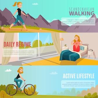 Banners de estilo de vida saudável