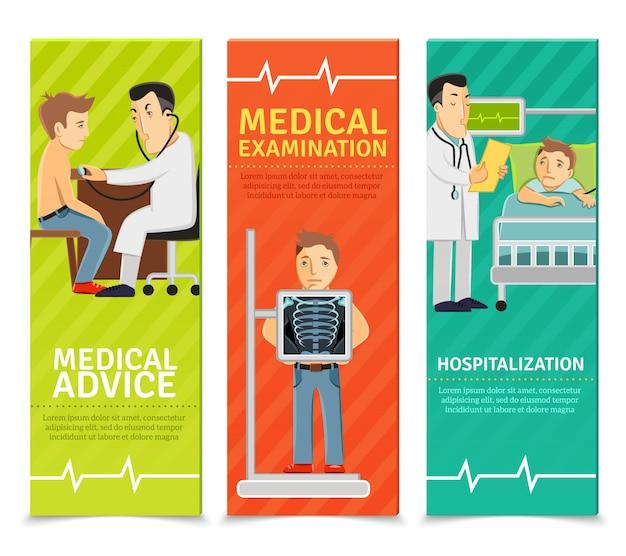 Banners de exames médicos