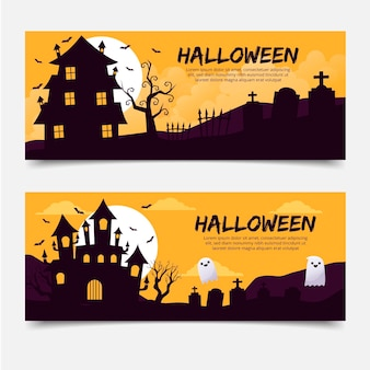 Banners de feliz dia das bruxas