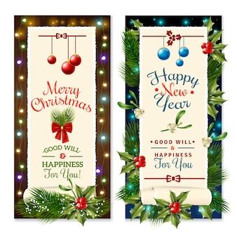 Banners de férias de natal