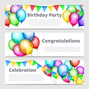 Banners de festa de aniversário