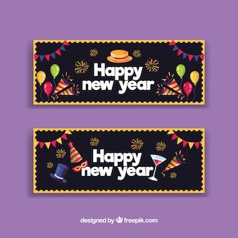 Banners de festa do ano novo