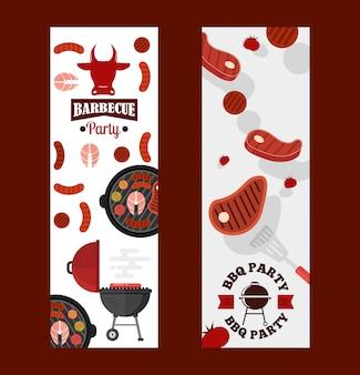 Banners de festa para churrasco