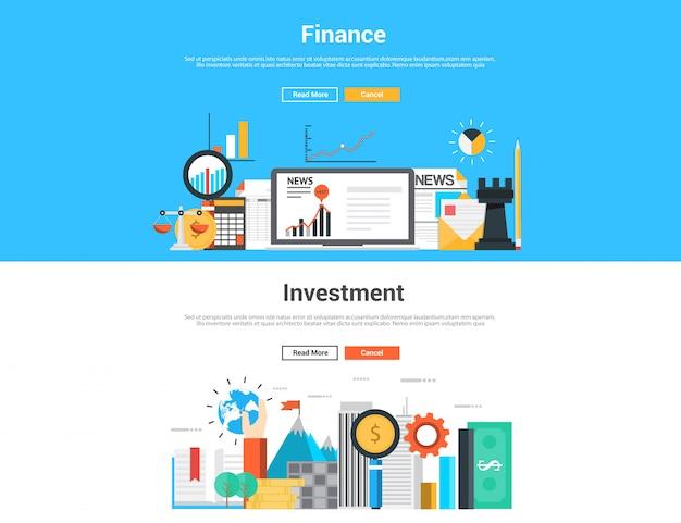 Banners de finanças e investimentos