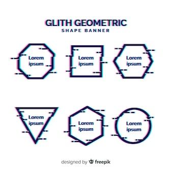 Banners de forma geométrica de falha