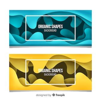 Banners de formas orgânicas abstratas