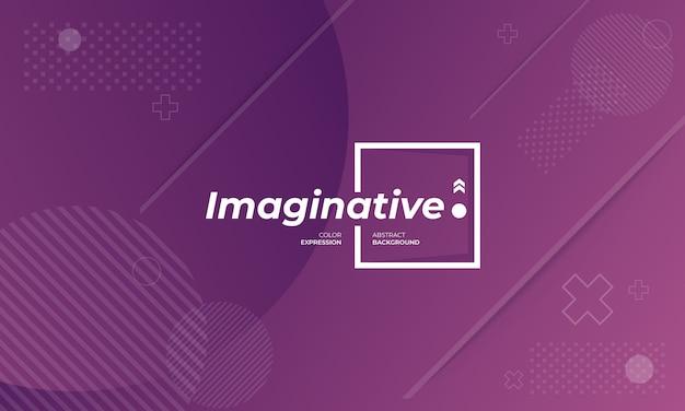 Banners de fundo moderno com expressões imaginativas em violeta
