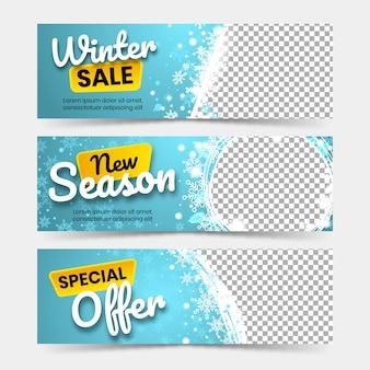 Banners de grande venda de inverno
