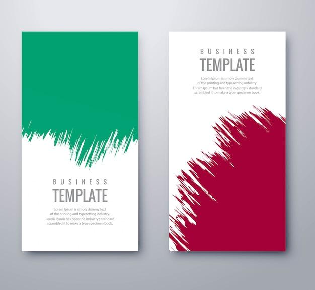 Banners de grunge colorido abstrato conjunto vector