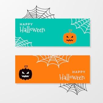 Banners de halloween fofos