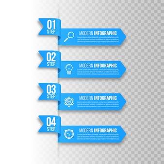 Banners de infográfico modelo de infográficos de negócios