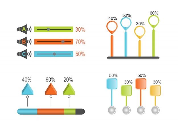 Banners de infográfico modelo