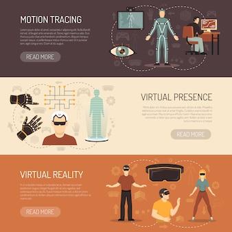 Banners de jogos de realidade virtual