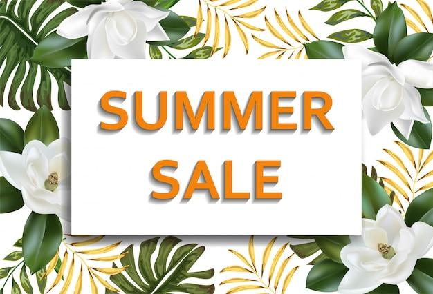 Banners de layout de fundo de venda de verão