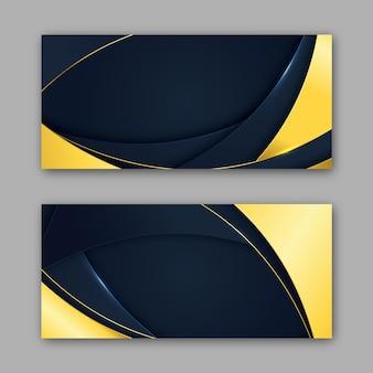 Banners de luxo gradiente dourado