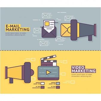 Banners de marketing definida