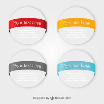 Banners de marketing design redondo