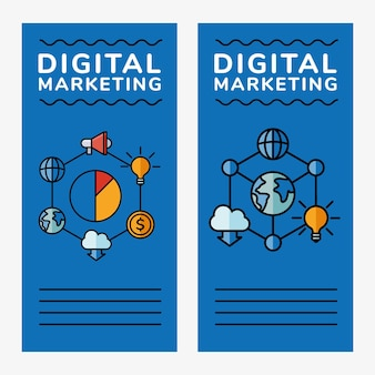 Banners de marketing digital