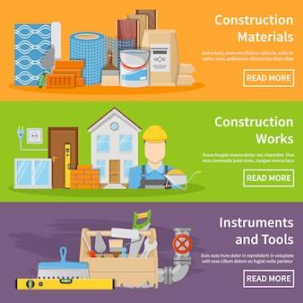 Banners de materiais de construção
