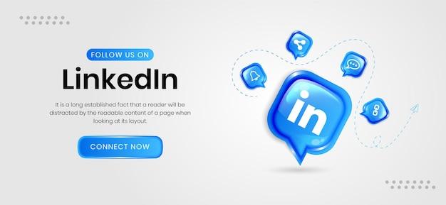 Banners de mídia social do linkedin