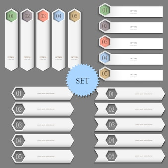 Banners de modelos de design para infográficos