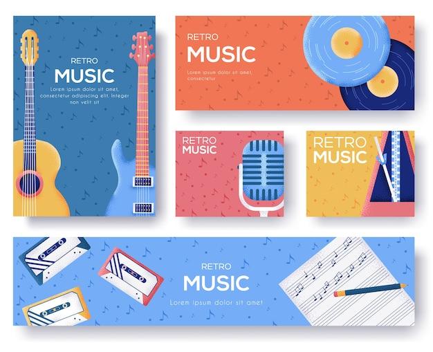 Banners de música retrô
