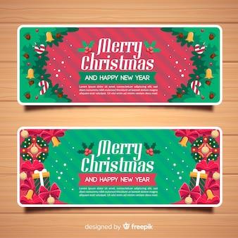 Banners de natal liso decorativos