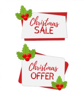 Banners de natal para venda com azevinho