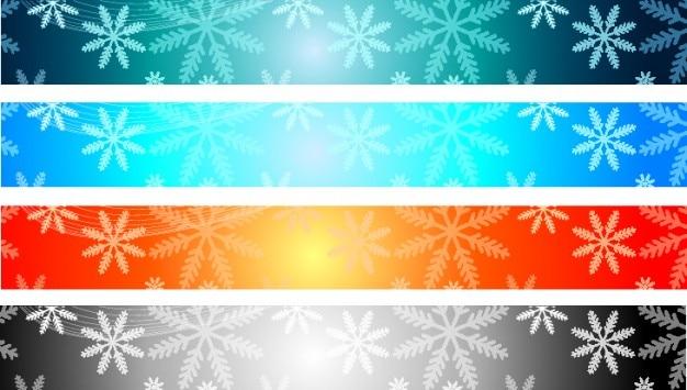 Banners de natal vector set colorido