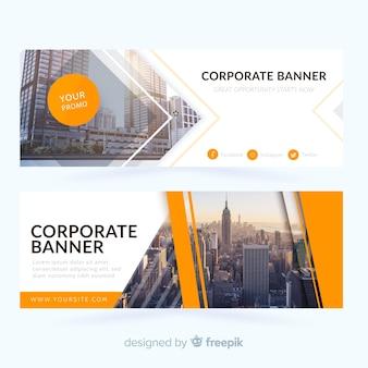 Banners de negócios abstratos