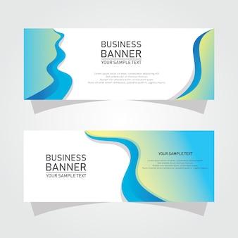 Banners de negócios de formas abstratas