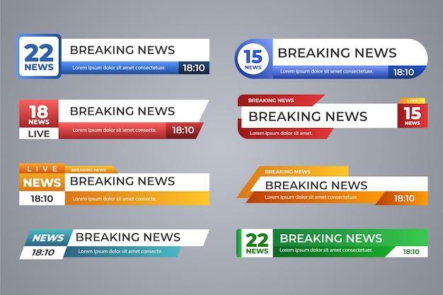 Banners de notícias de última hora