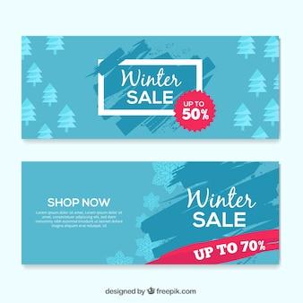 Banners de oferta de inverno
