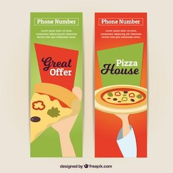 Banners de ofertas pizzaria