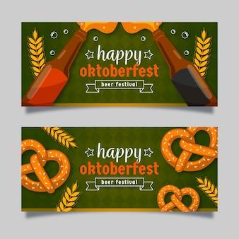 Banners de oktoberfest com cerveja