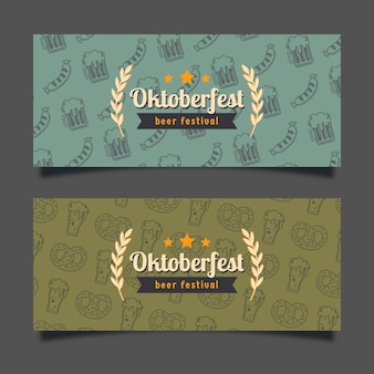 Banners de oktoberfest retrô