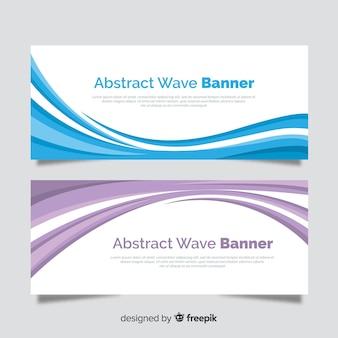 Banners de onda abstrata