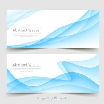 Banners de ondas abstratas