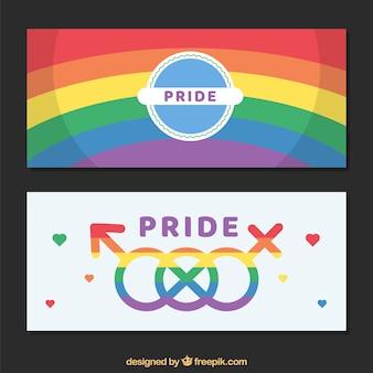 Banners de orgulho do mundo moderno