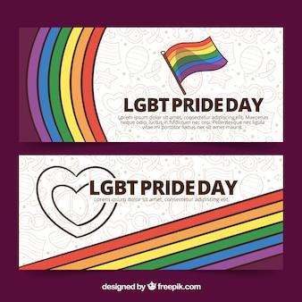 Banners de orgulho lgbt