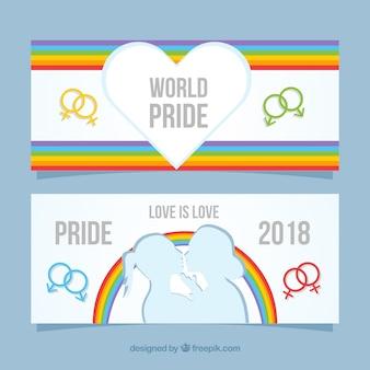 Banners de orgulho moderno lgtb