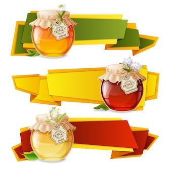 Banners de origami de mel