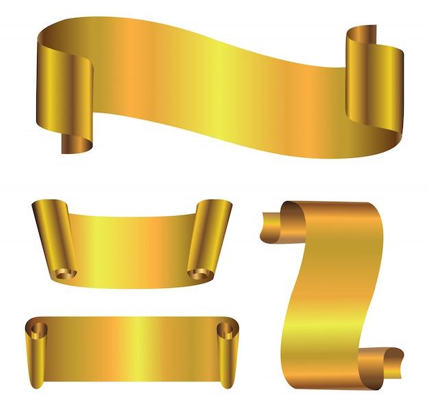 Banners de ouro premium