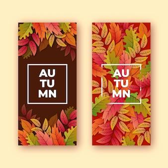 Banners de outono realistas