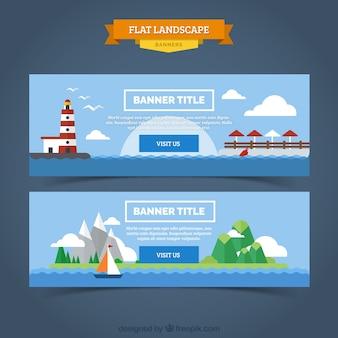 Banners de paisagens marítimas
