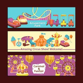 Banners de parque de diversões
