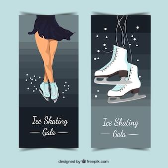 Banners de patinação artística