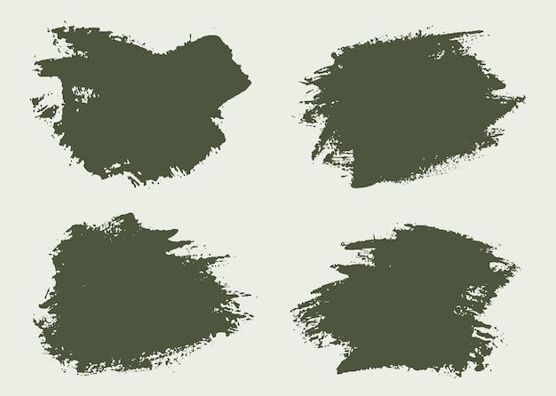 Banners de pincel de pintura abstrata