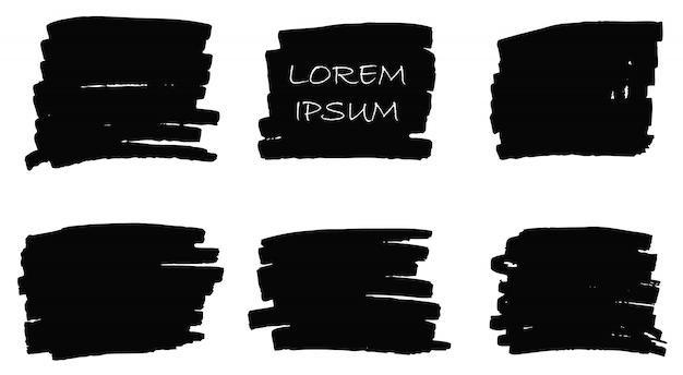 Banners de pincel de tinta grunge