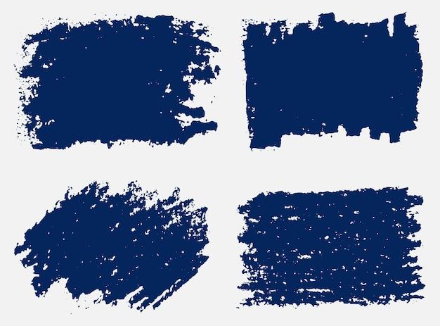 Banners de pincelada abstrata de grunge